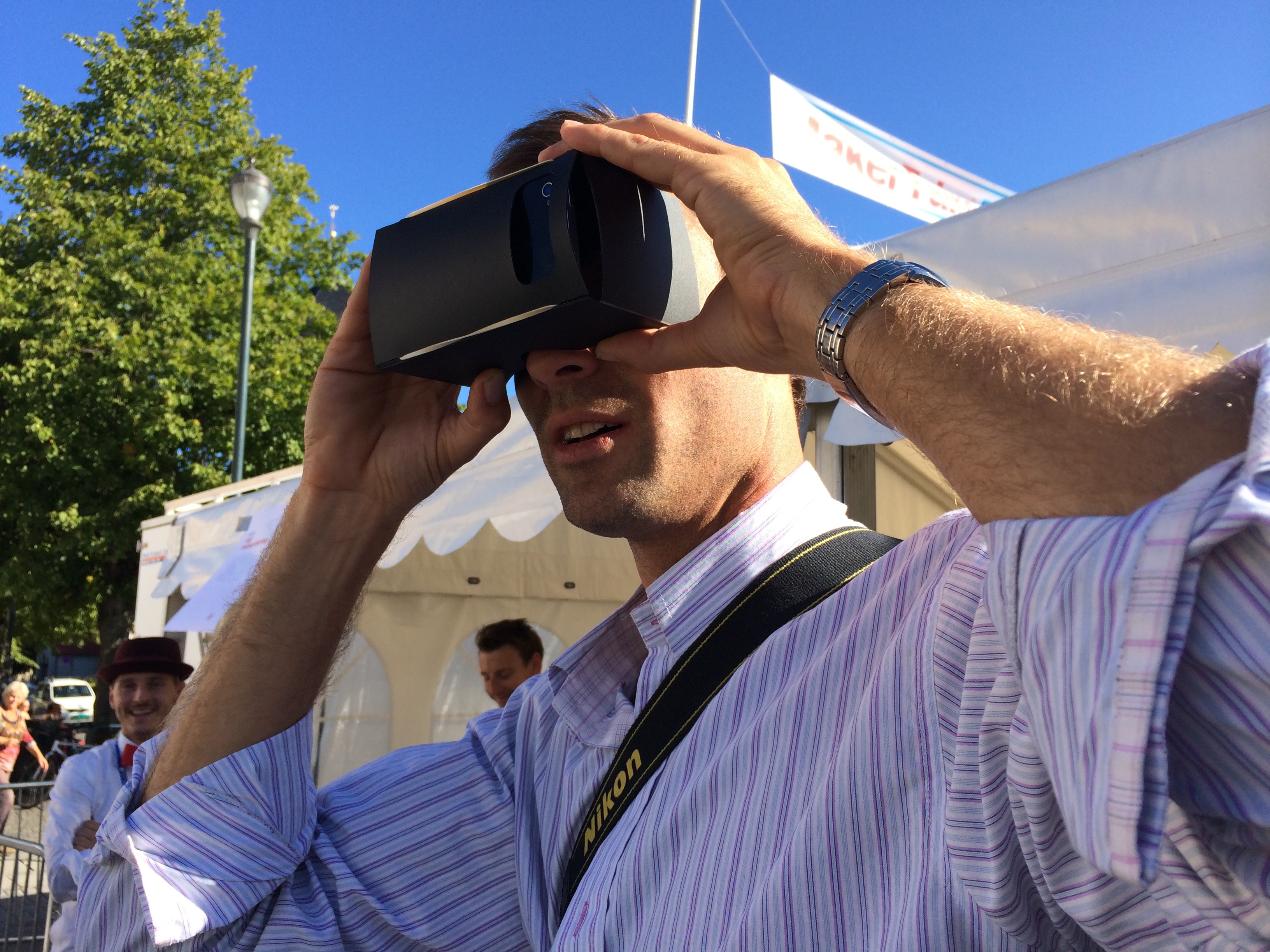 Google Cardboard and Go Pro mix it up at Maker Faire Trondheim