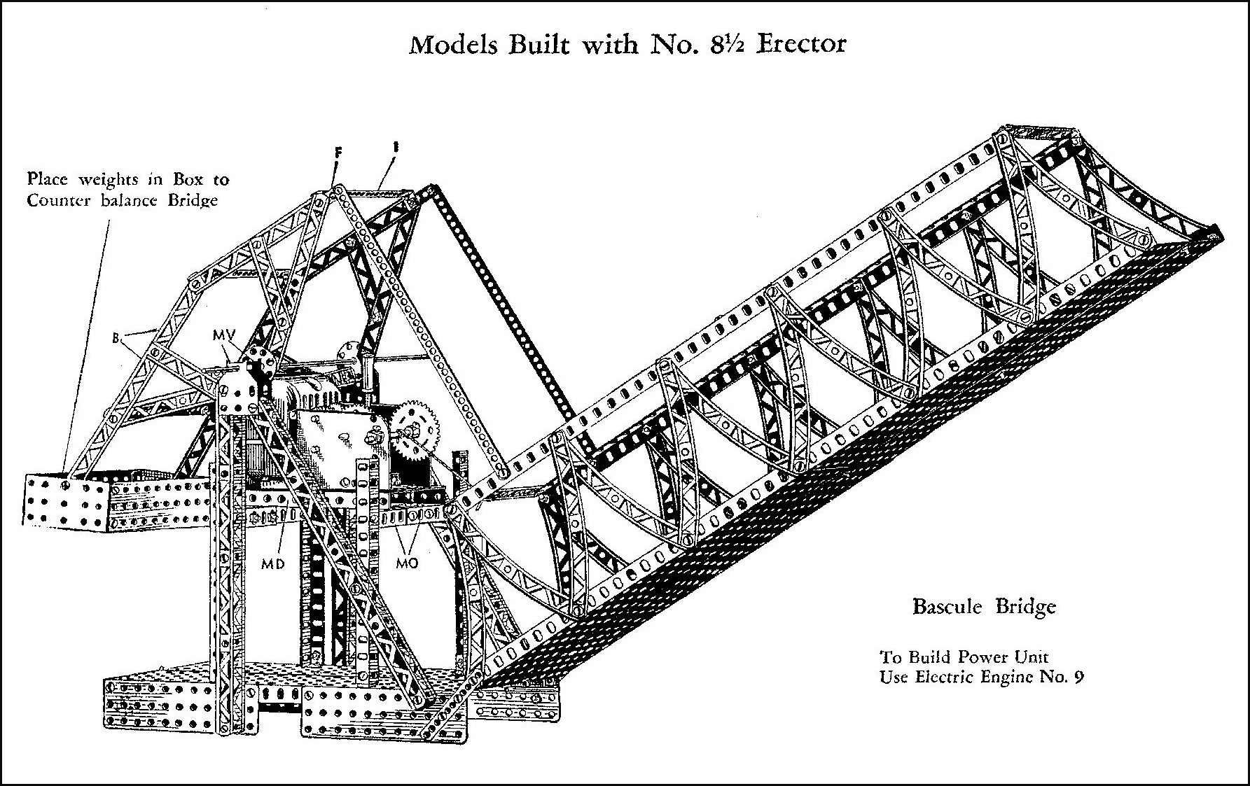 Bascule Bridge Drawing