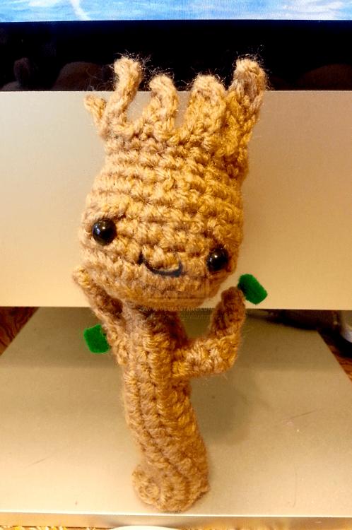 Amigurumi Patterns Groot : Crocheted groot round up make