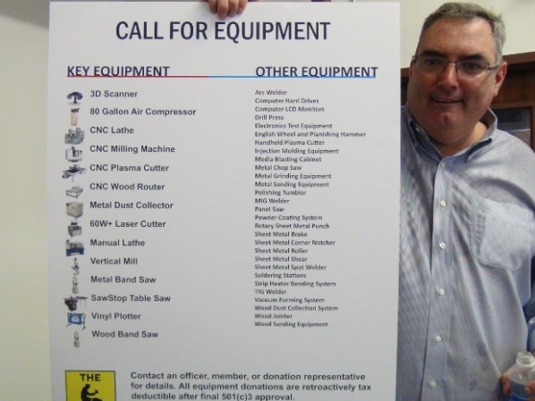 The Forge's Suggestion List for Donated Equipment