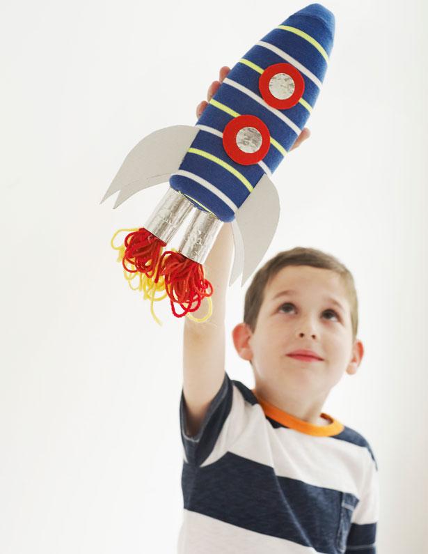 Kid Crafts: Soap Bottle Rocket