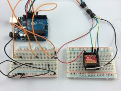AVR Programmer attached to the MicroView
