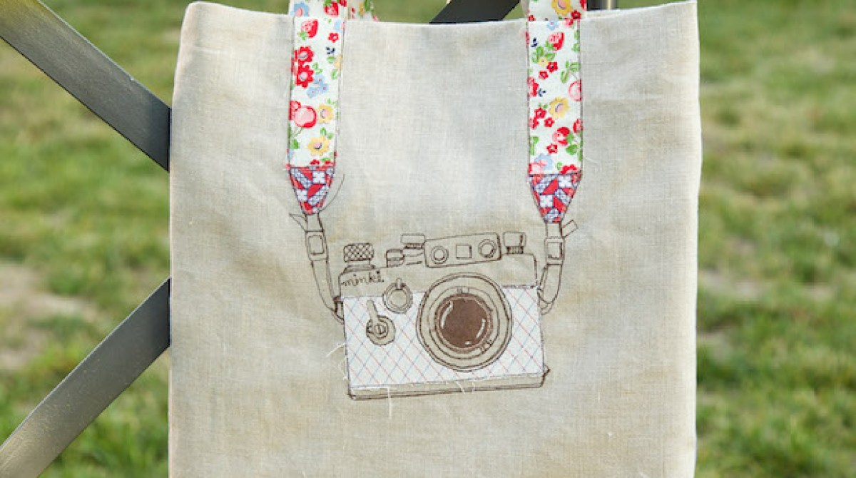 How-To: Embroidered Camera Tote Bag