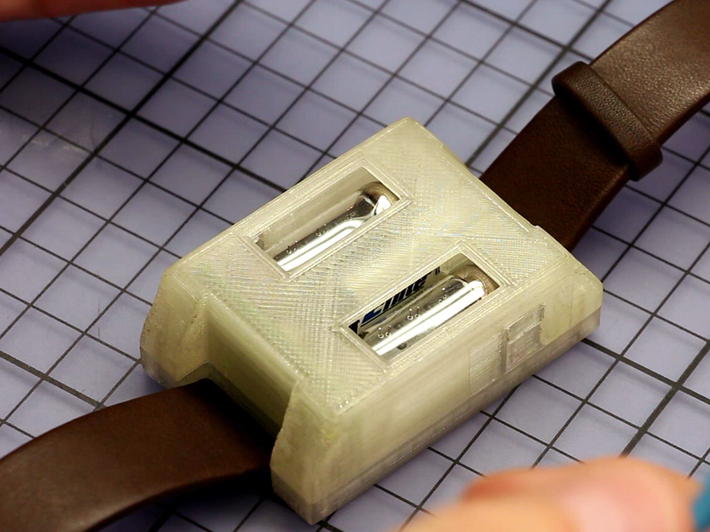Numitron Tube Watch With 3D Printed Case