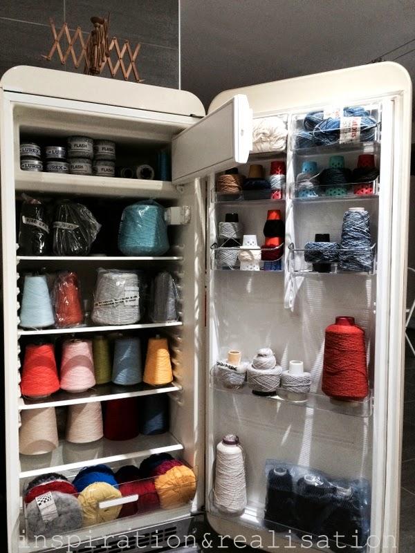 Refrigerator Repurposed As Yarn Storage Make