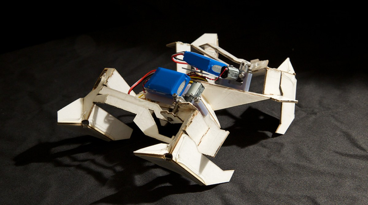 A $100 Origami Robot That Folds Itself Up and Walks Away