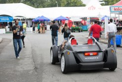 Local Motors' Strati is the first 3D-printed car; it was printed in one piece on a large-format printer in 44 hours.
