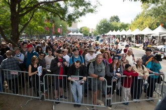 Saturday morning, September 20: New Yorkers can't wait for the Maker Faire gates to open.