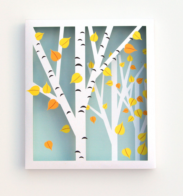How-To: Birch Tree Shadow Box