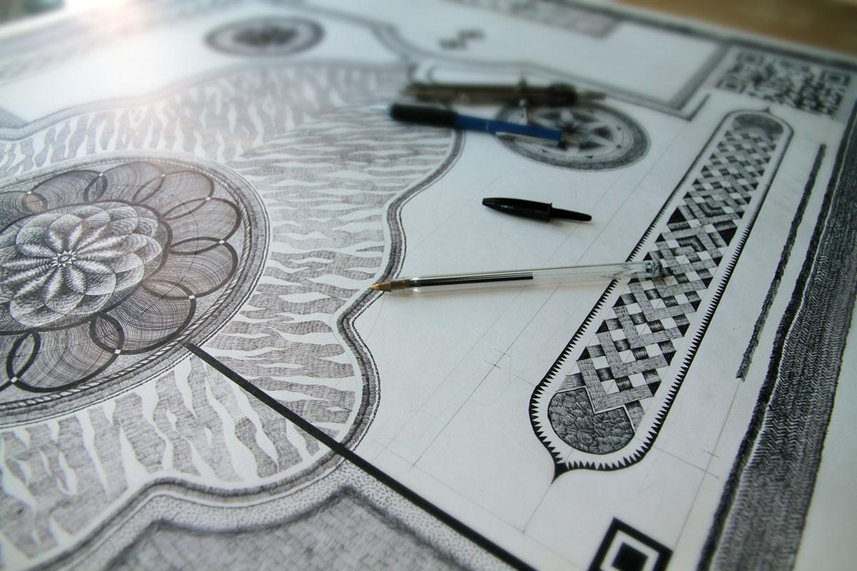 Artist Makes Ornate Rug Designs with Ballpoint Pen