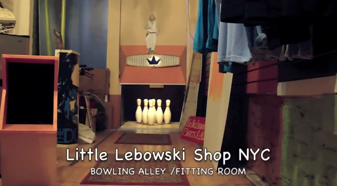 Bowling Fan Builds DIY Alley for NYC's Little Lebowski Shop