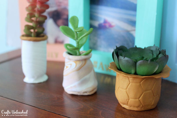 How-To: Polymer Clay Succulent Planters