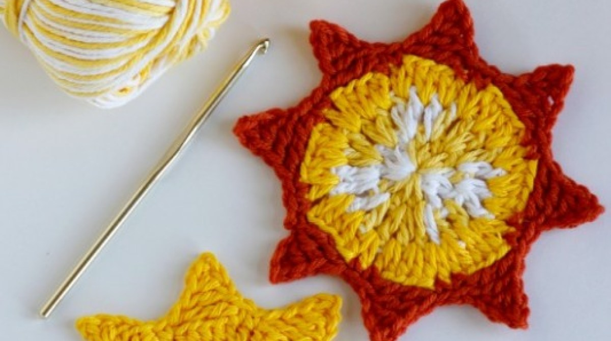 Crocheted Sun Coasters