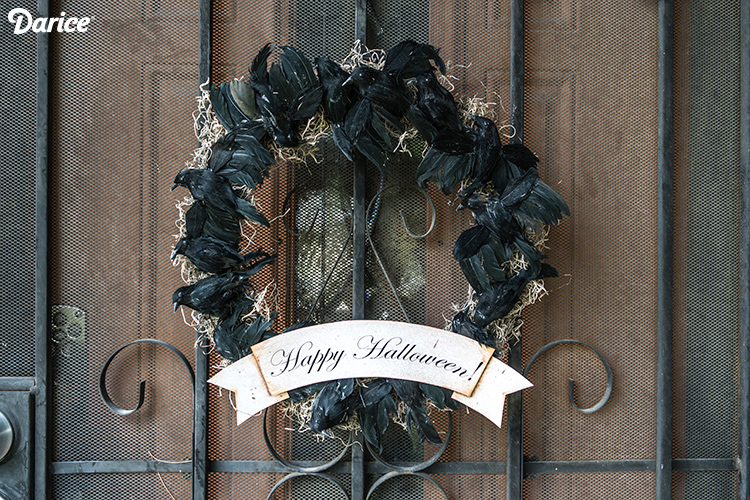 DIY Black Crow Wreath