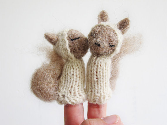 Charming Needle Felted Finger Puppets