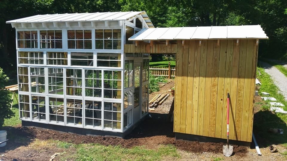 Greenhouse Built From Discarded Windows