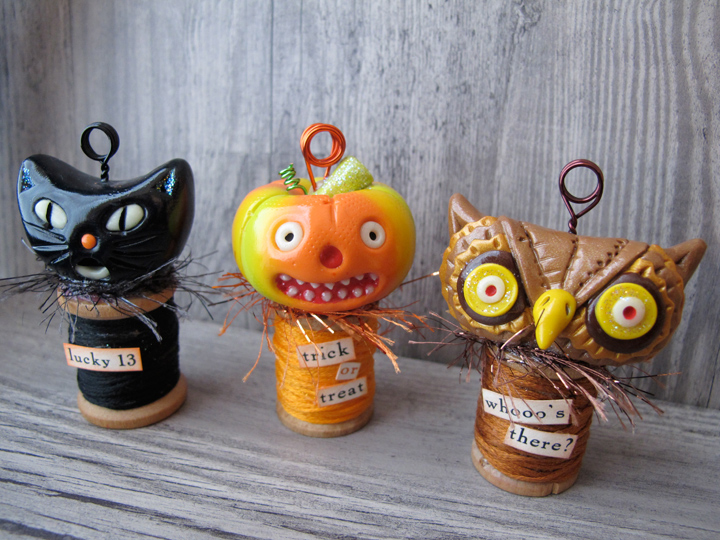 How-To: Halloween Polymer Clay Card Holders