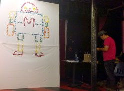 Sok Song created an origami mural of Makey