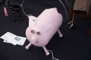 Upcycled propane tank piggy