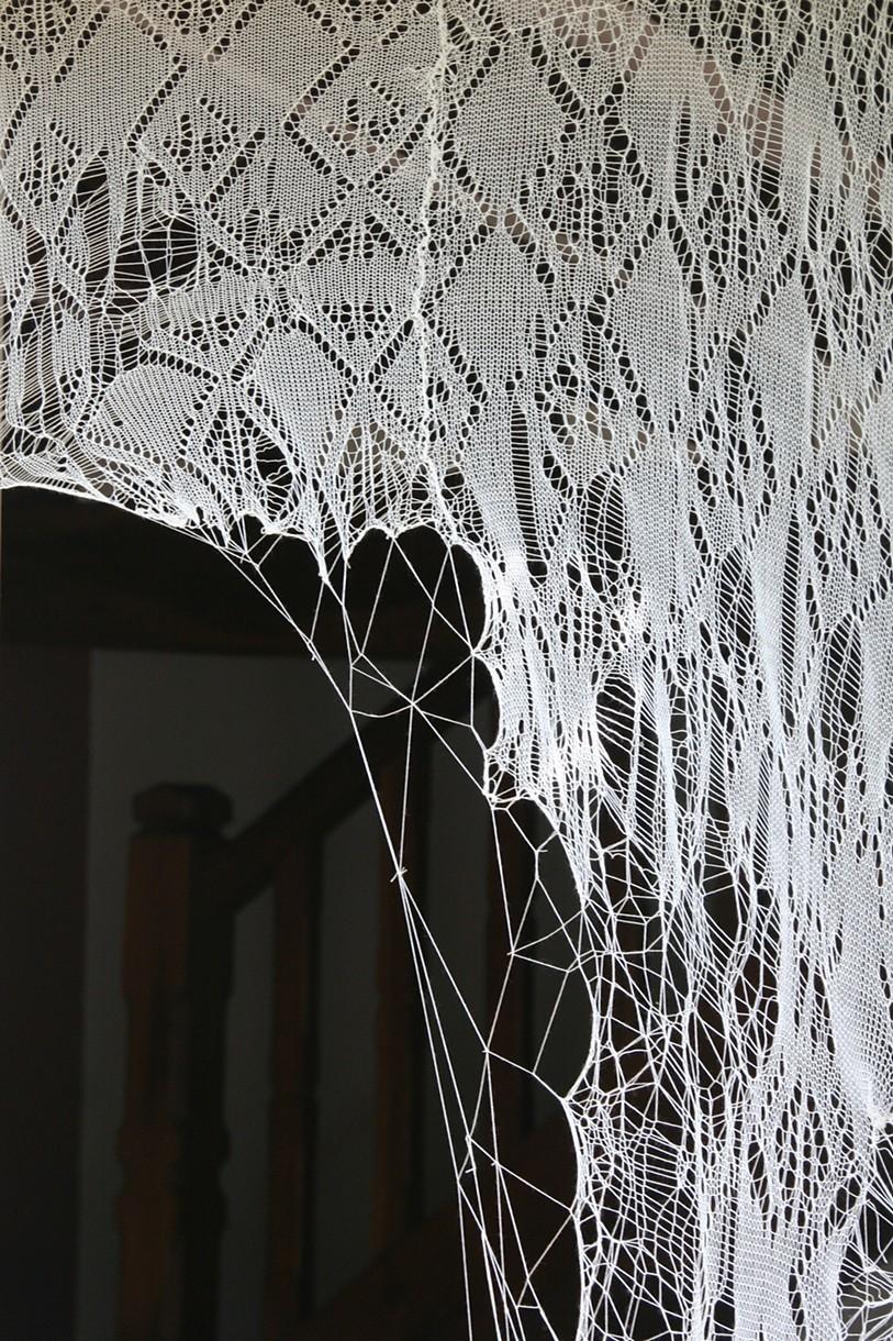 Jenine Shereos' Spider Web-Like Lace Installation