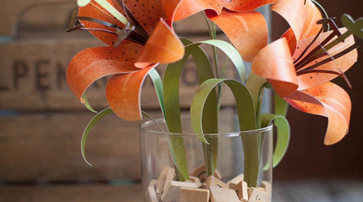 How To Paper Tiger Lily Make