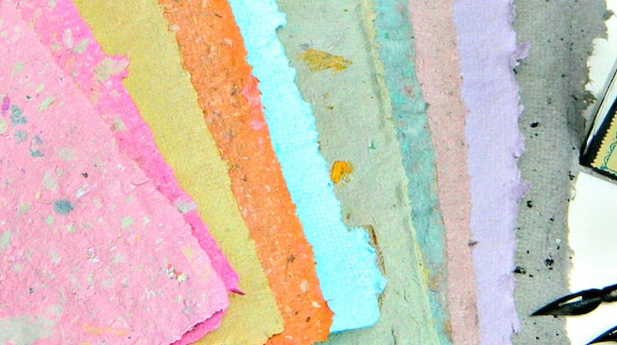 How To: Beautiful Handmade Paper in Custom Colors