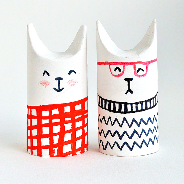 Kid Crafts: Toilet Paper Roll Cats