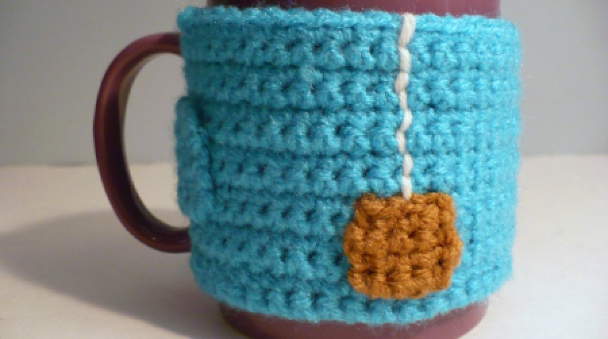"How-To: Crocheted ""Cup of Tea"" Mug Cozy"