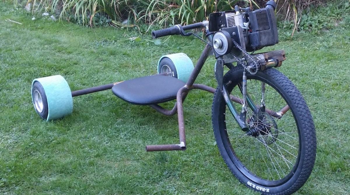 Allan's Motorized Rat Rod Drift Trike