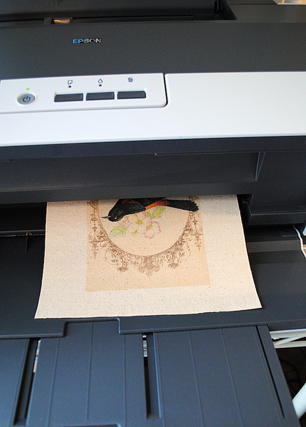 How-To: Freezer Paper Method for Printing on Fabric