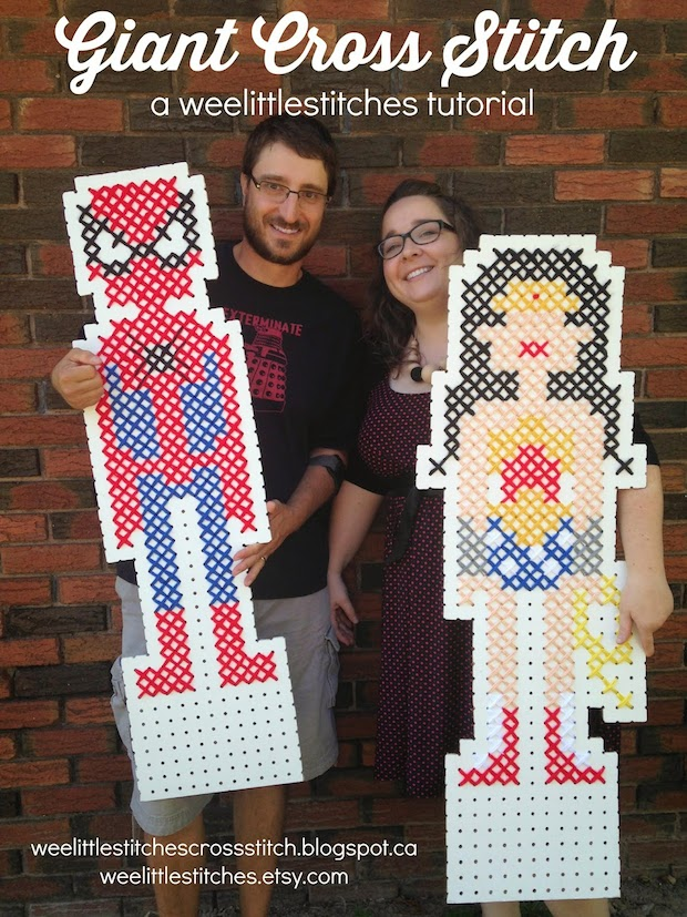 How-To: Giant Cross-Stitch Art and Decor