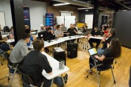 The Make: team discusses the findings after testing wraps up