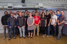 The Make: 3D printer testing team