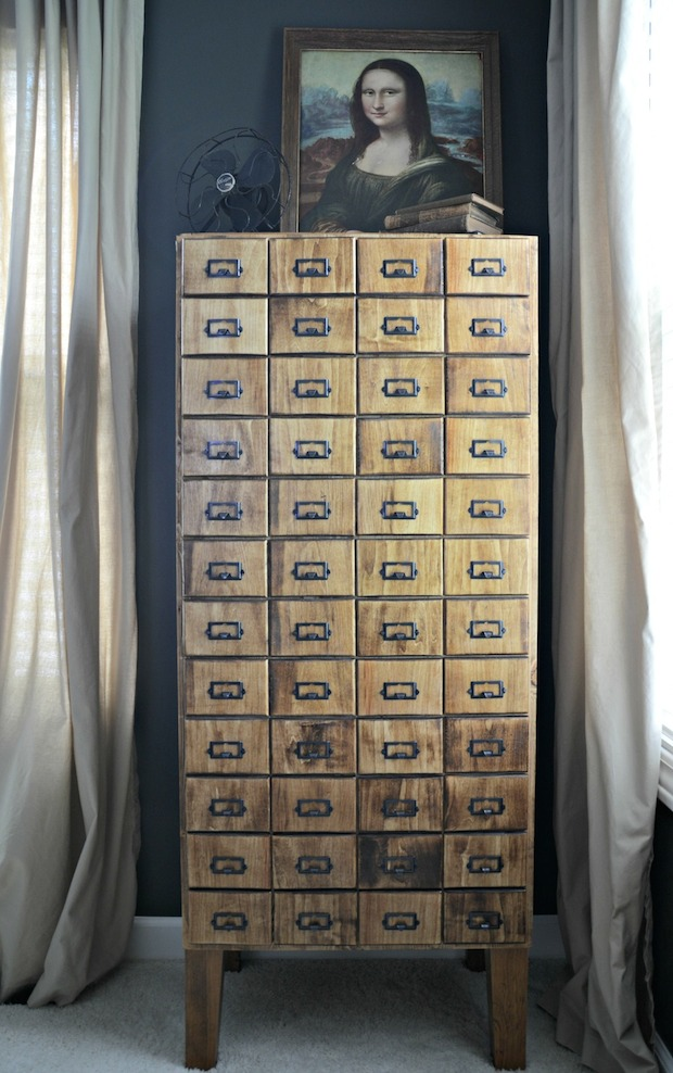 How-To: DIY Faux Card Catalog Cabinet