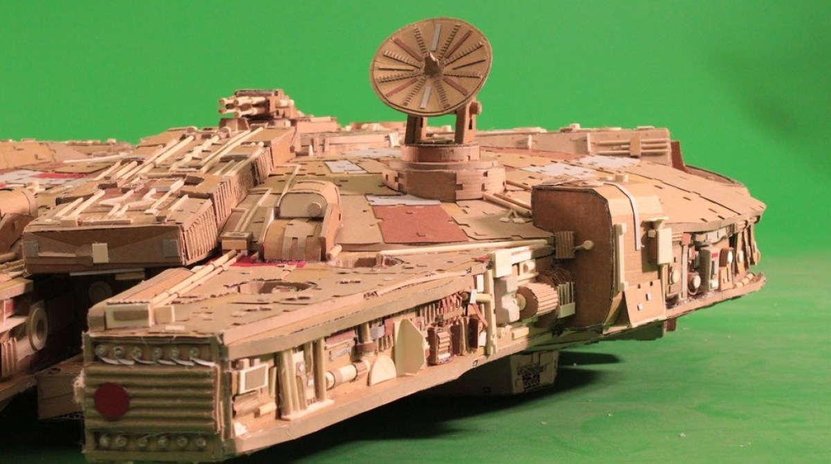 Star Wars Fan Creates Insanely Detailed Cardboard Millennium Falcon