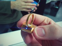 """Smart jewelry and acessories"" maker Ringly showing off their soon-to-launch rings."
