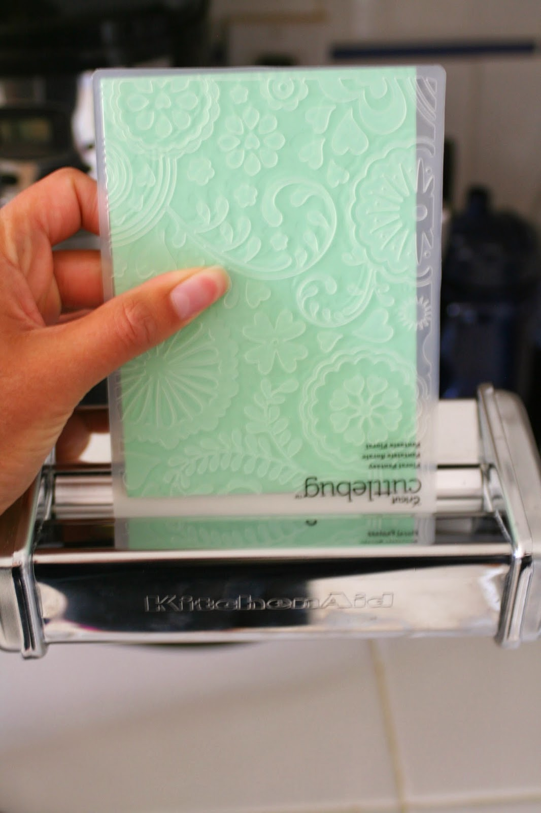 How-To: Paper Embossing with Your Pasta Machine