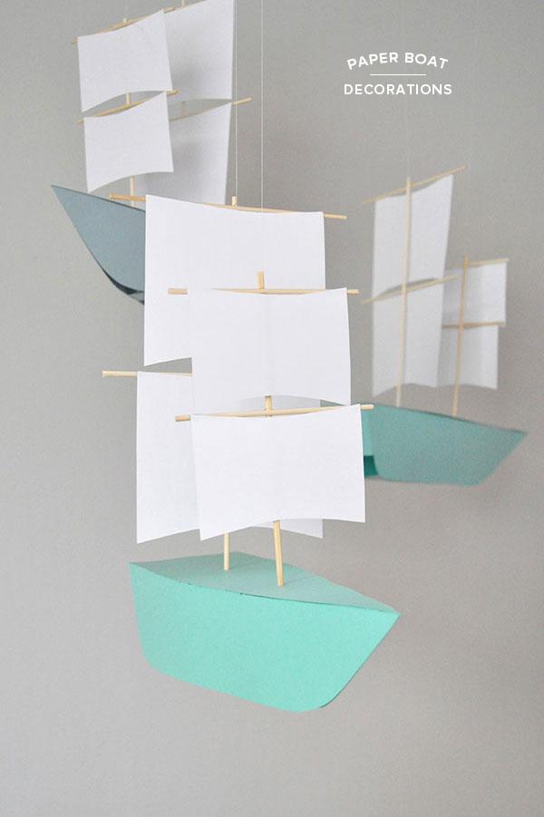DIY Paper Boat Decoration