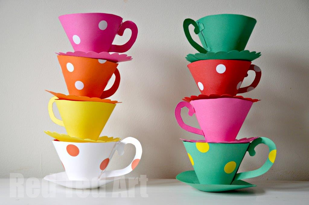 picture regarding Teacup Printable referred to as How-Toward: Paper Teacup Get together Online games Generate:
