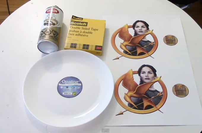 Dollar Store Hack: The Hunger Games Gold Collectible Plate