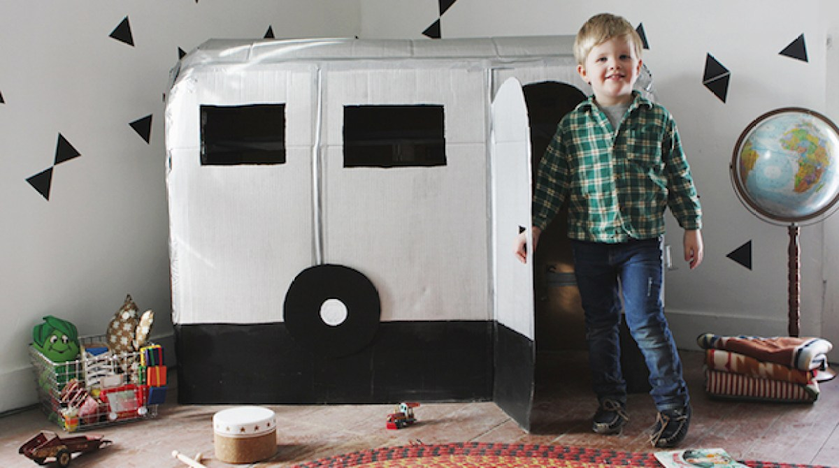 How To Cardboard Airstream Camper Playhouse