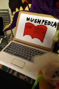 But this was the first time I have seen a felt puppet-laptop!