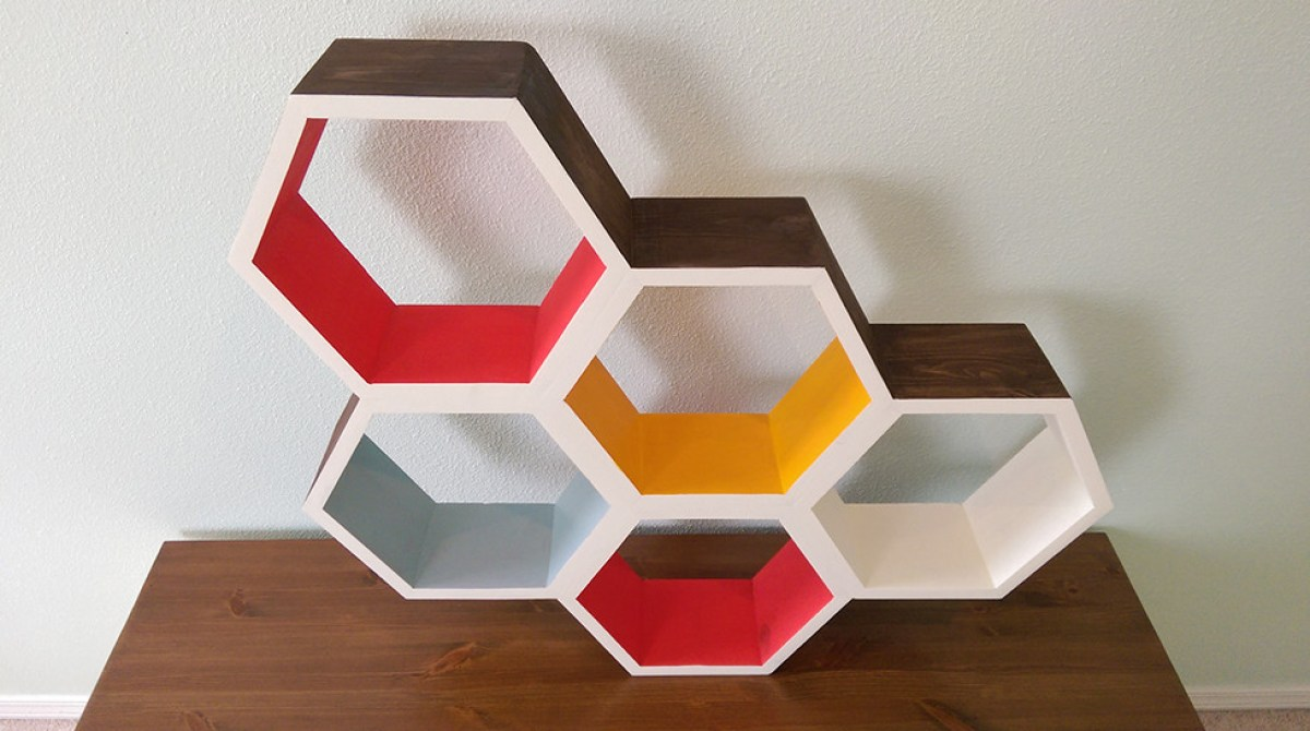 Make Your Own Honeycomb Shelves