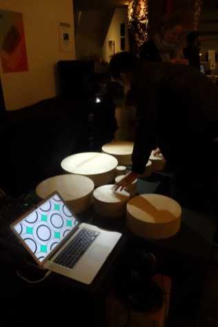 pressure touch-based wood-block drum synth