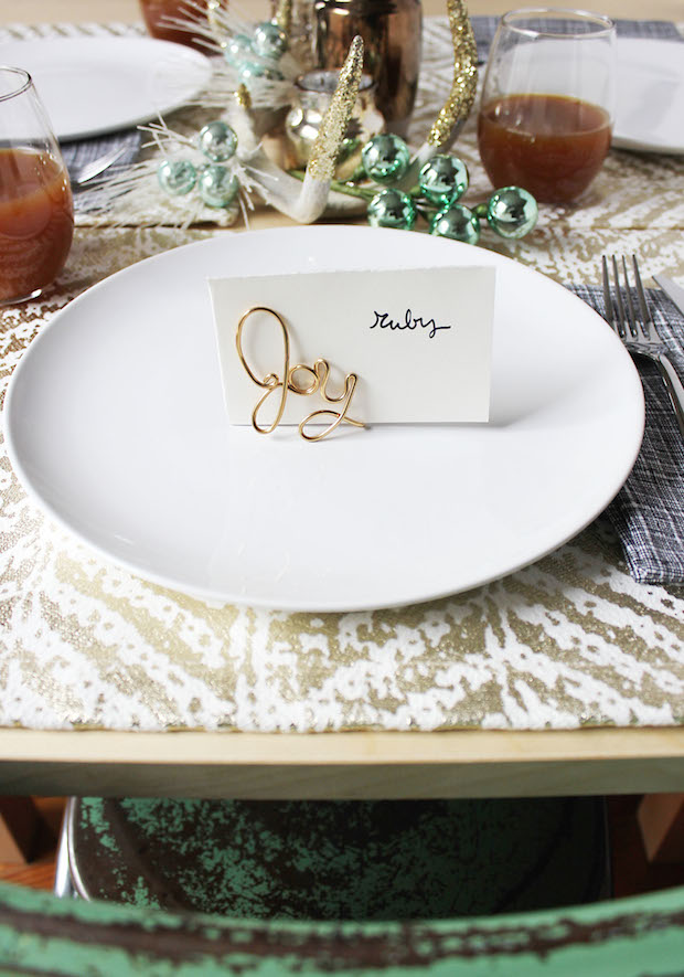 How To Easy Wire Place Card Holders Make