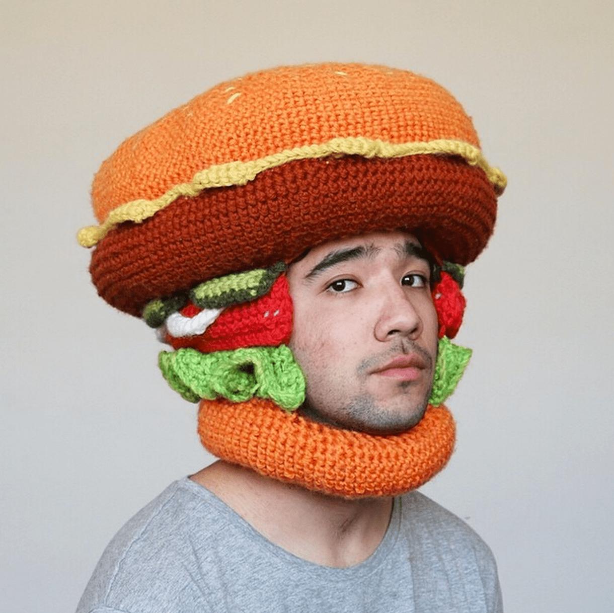 Fantastic Crocheted Food Hats