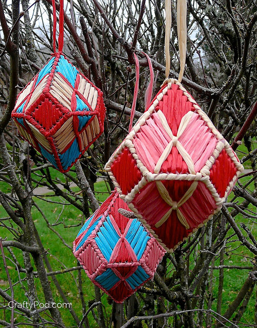 How-To: Plastic Canvas Gem Ornaments