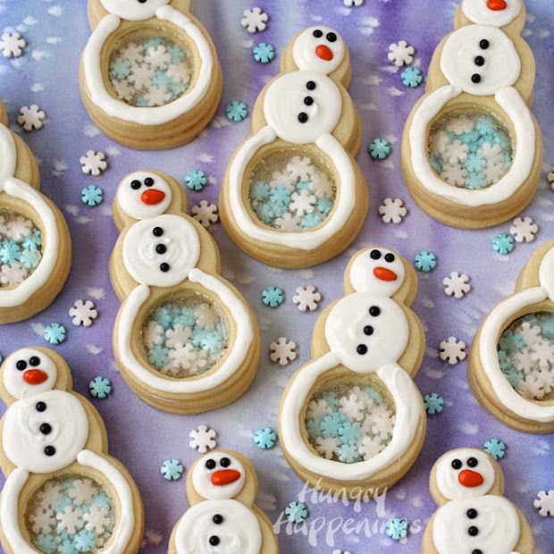 Recipe: Snowflake Candy-Filled Snowman Cookies