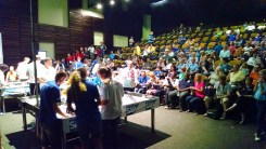 Lego robot competition was intense.