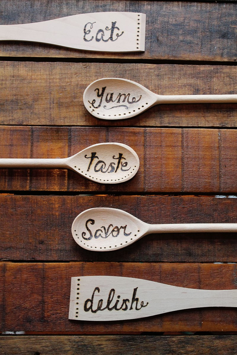 How-To: Wood Burned Spoons